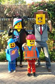 Cool Halloween Costumes Kids Amazing Family Themed Lego Movie Costumes Lego Movie Costume