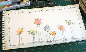 watercolor tutorial chickadee lori vliegen on doodling animals mondays studio and watercolor