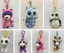ty beanie boos big eyes plush clip leopard octopus raccoon unicorn