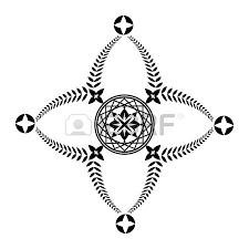 laurel wreath tattoo unusual cross sign ornament black icon