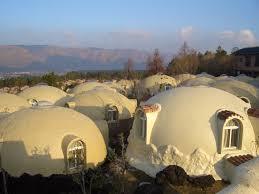 dome houses of japan made of earthquake resistant styrofoam blog