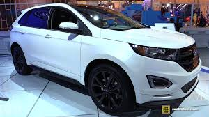 Ford Edge Interior Pictures 2015 Ford Edge Sport Awd Exterior And Interior Walkaround 2015