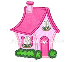Instant Home Design Download by Flower Swirl Applique Machine Embroidery Design Pink Instant