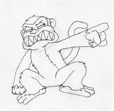 evil monkey by boardwalkbum on deviantart