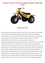 yamaha tri moto 175 service manual repair 198 by jene shettle issuu