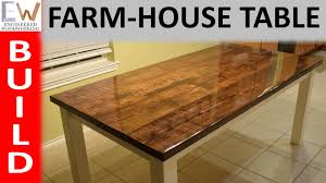 Table Design by Farm House Table Design 1 Epoxy Coating Youtube