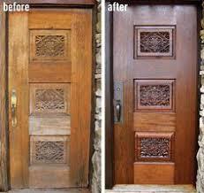 Refinish Exterior Door How To Refinish A Stained Wood Front Door Wood Front Doors