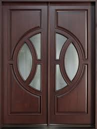 Modern Entry Doors by Modern Front Door Custom Double Solid Wood With Dark Mahogany