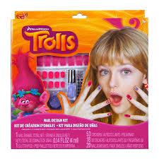 amazon com trolls nail design kit toys u0026 games