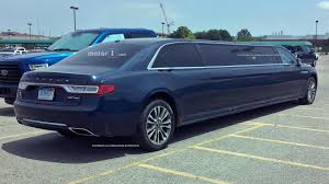 lamborghini limousine blue extra long lincoln continental limo spied