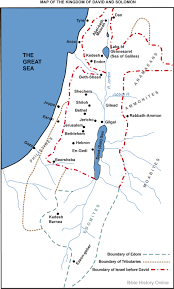 Isreal Map Map Of The Kingdom Of David And Solomon Bible History Online