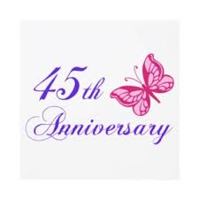 45 wedding anniversary 45th anniversary clipart