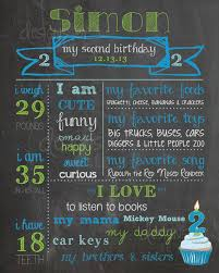 birthday signing board 2nd birthday chalkboard birthday poster sign boy 2 year