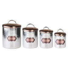 amazon com global amici cucina hammered metal canisters set of 4