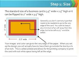 Minimum Font Size For Business Card Logo The Steps To Creating A Business Card California State