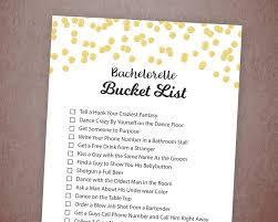 bachelorette party bucket list game printable gold confetti