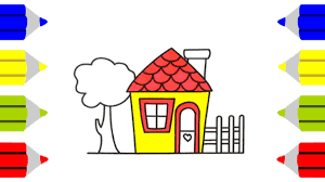 how to draw a small doll u0027s house for kids coloring pages family