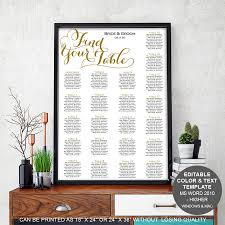 modern table numbers modern rustic wedding table seating chart template seating