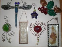 stained glass ornaments ebay