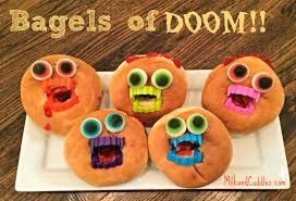 monster bagels a halloween snack everyday best