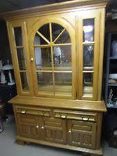 oak china cabinets ebay