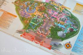 Disney Downtown Map Diy Disney Craft Disney Map Placemats