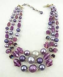 pearl beads necklace images Japan purple pearl and glass bead necklace garden party jpg