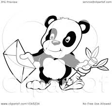 suggestions online images of panda bear outline drawing