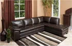Abbyson Leather Sofa Reviews Abbyson Tekana Premium Italian Leather Sectional Sofa Dark Brown