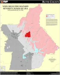 Colorado Wildfire Risk Map by Cal Fire Butte County Fhsz Map