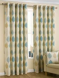 homescapes duck egg blue cream eyelet ring top cotton curtains