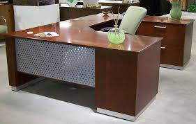 L Shaped Contemporary Desk Modern U Shaped Executive Desk With Metal Wood Officepope