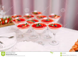 wedding party red cocktails in glasses ready for party people