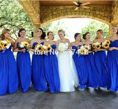 cheap royal blue bridesmaid dresses get cheap royal blue chiffon prom dresses aliexpress