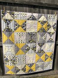 Grey And Yellow Comforters Yellow Gray Quilt With Minky Backing Gray And Yellow Quilt Target