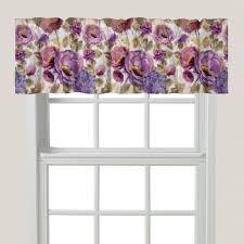 purple floral garden window valance u2013 laural home