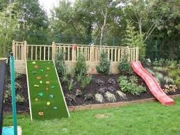 Backyard Hillside Landscaping Ideas Garden Landscaping Ideas For Downward Sloping Backyard With