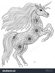 shining unicorn coloring pages for adults 10 astonishing design
