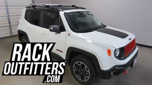 jeep renegade sunroof jeep renegade with thule rapid crossroad roof rack crossbars youtube