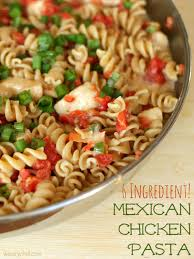 Mexican Pasta Salad 6 Ingredient Mexican Chicken Pasta The Weary Chef