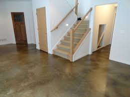 Flooring For Basement Floors by Stained Concrete Basement Floor Traditional Indianapolis By
