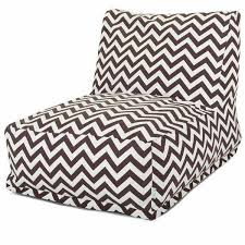 chocolate zig zag campus life style bean bag lounger free shipping