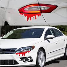 subaru legacy decals vinyl car suv body headlight tail light bleeding decor red blood