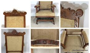 Victorian Upholstered Chair Green Upholstered Carved Victorian Side Chair Loveseat Vintage