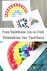 free printable do a dot rainbow activity my bored toddler