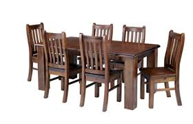 solid oak dining table and 6 chairs minimalist felton 1 8 solid pine wood dining table 6 chairs combo in