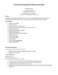 sle cv for job receptionist sle job description how to write a resume