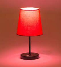 red table lamp shade a bold red lamp shade for interior