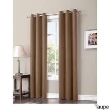 Single Panel Window Curtain Designs Taupe Faux Silk Taffeta Window Curtain 84 Inches Single Panel