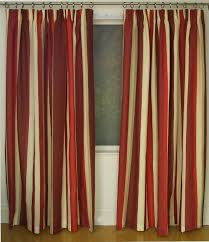 mali red cotton blend lined 46x54 striped pencil pleat curtains rtsrev hc